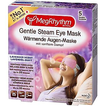 MegRhythm Self Heated Gentle Steam Eye Mask, Lavender, for Relaxation and Eye Strain, Pack of 5