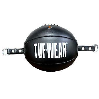 Tuf Bär läder topp och botten boll (golv till tak boll) alla svarta helt svart