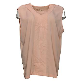 DG2 by Diane Gilman Women's Top V-Neck Shell Pink 648362