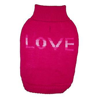 Fashion Pet True Love Dog Sweater Pink - Medium