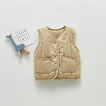 Autumn And Winter New Retro All-match Vest Baby Windproof Vest Jacket Winter Toddler Girl