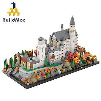 Magic Neuschwanstein Castle Kreslená akční figurka Hračky Brain Game Model Děti| blokuje