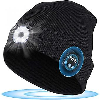 Unisex Led Luminous Bluetooth Headset Wireless Outdoor Sports Knitted Hat
