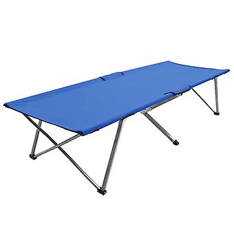 Leirisänky 206x75x45 cm XXL sininen