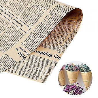 נייר עטיפה 40 גיליונות של אריזת אריזת פרחי נייר חומר חג המולד עטיפת נייר אריזת פרחים מיובשים