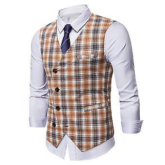 Allthemen Men's Casual Slim-fit Oblique Buckle Vest All-match Suit Vest 5 Sizes