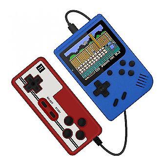 Video game consoles 400 in 1 retro portable handheld color lcd game player 2 player video game console blue