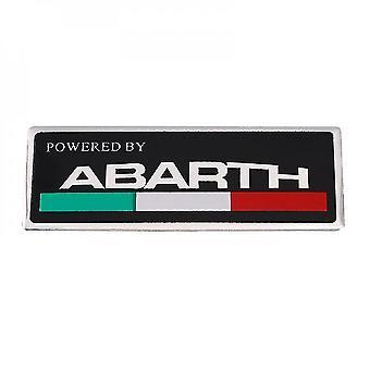 Fiat Abarth 3D Metall Auto Aufkleber, Seite und Kofferraum Flügel Emblem Emblem, Aufkleber für Fiat Abarth, 500