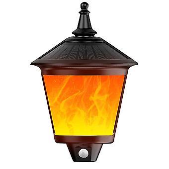 Solar Outdoor Dekoratives Licht, 2 in 1 Dekorative blinkende Wandleuchte, Dämmerung bis Morgendämmerung, 87 LED Bewegungsmelder, Outdoor wasserdicht, geeignet für Partys