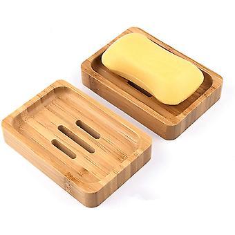 Odcedź drewnianą mydelniczkę odpowiednią do domowej łazienki hotelowej 2-częściowy zestaw