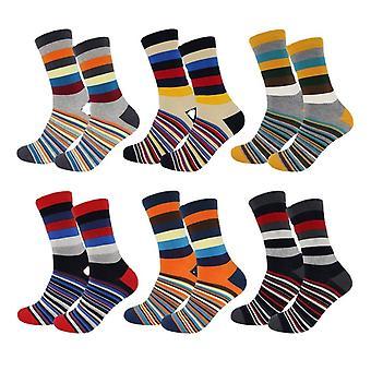 Multi-stripe Men's Socks Pack Of 6 Multicoloured