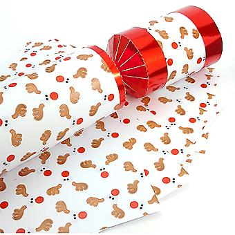 8 Red Foil Funky Rudolph Make & Fill Your Own DIY Christmas Cracker Kit