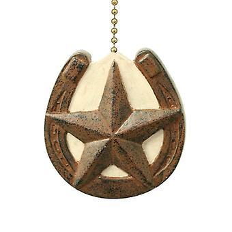 马蹄形与谷仓星原始设计天花板风扇拉或轻拉链