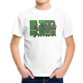 Archer Confusion Superhero Green Spy Zombie Kid's T-Shirt