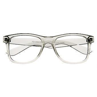 Transparent clair translucide cristal cube lentille claire corne Rimmed lunettes
