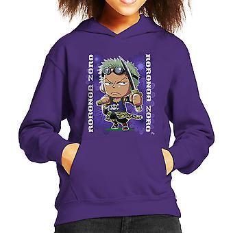 1 つワンピース ロロノア ・ ゾロ ミニ子供フード付きスウェット シャツ