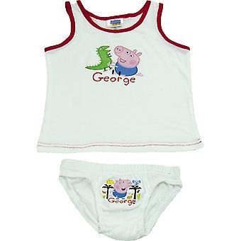Boys George Pig ujjatlan póló/mellény & alsónadrág szett