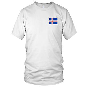Islande islandais pays drapeau National - Logo - brodé 100 % coton T-Shirt Ladies T Shirt