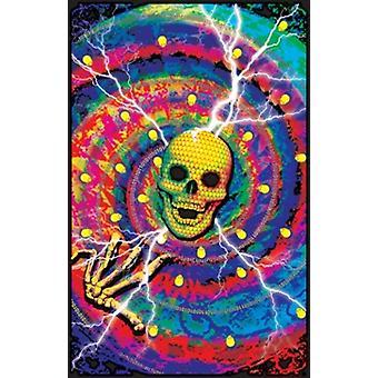 Schwarzlicht - Cyber Junkie-Poster-Plakat-Druck