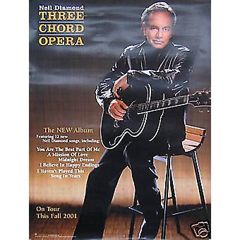 Neil Diamond Three Chord Opera Poster