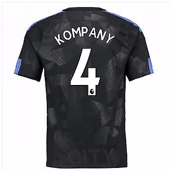 2017 / 18 mand City tredje skjorte (Kompany 4) - børn