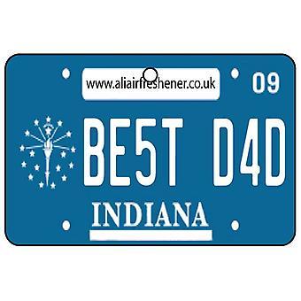 Indiana - bedste far nummerplade bil luftfriskere