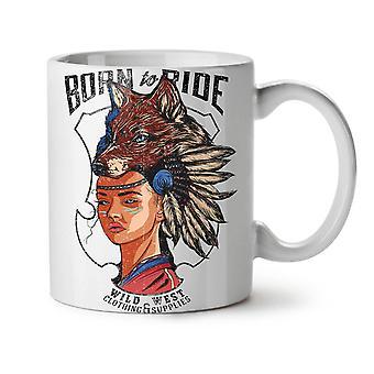 Indian Girl Fox Fashion NEW White Tea Coffee Ceramic Mug 11 oz | Wellcoda