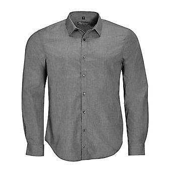 SOLS Mens Barnet lange mouw knop ingedrukt Shirt