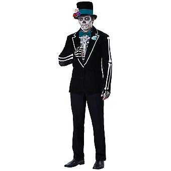 EL Novio Muerto Day Of The Dead Groom Mexican Spanish Deluxe Mens Costume