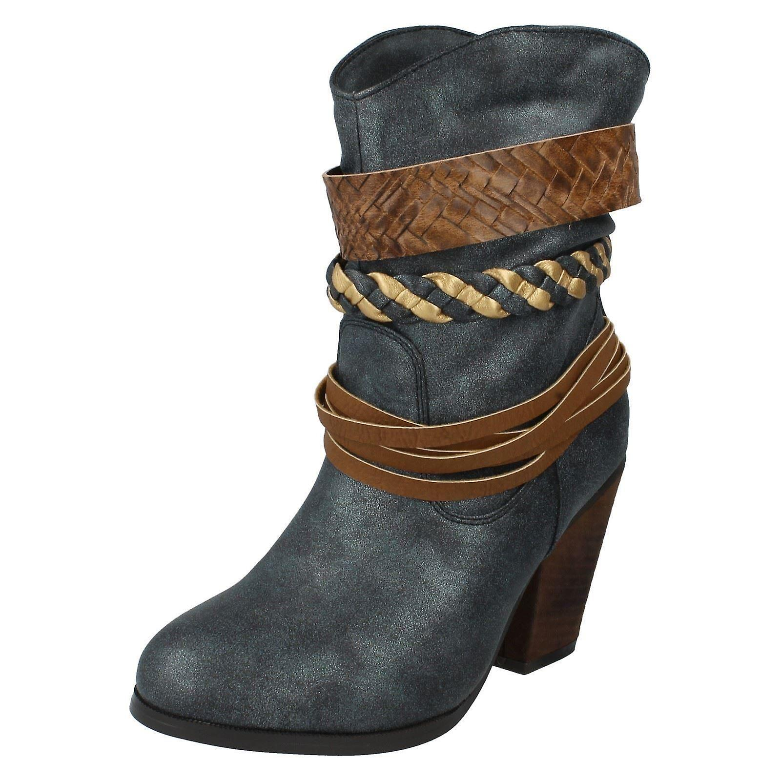 Ladies Spot On Cowboy Boots F50204