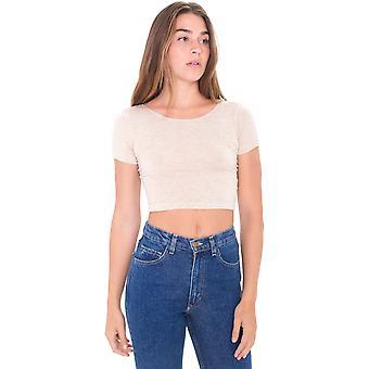 الملابس الأمريكية النسائية/السيدات القطن المحاصيل جيرسي دنه تي شيرت