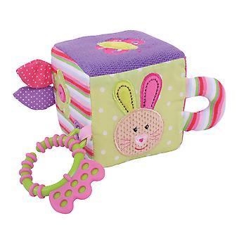 Bigjigs Toys Soft Plush Bella Activity Cube Newborn Sensory Development