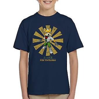 Star Fox McCloud Retro Japanse Kid's T-Shirt
