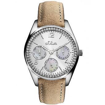 montre montre-bracelet en cuir s.Oliver féminin SO-3163-LM