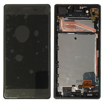 Sony Display LCD Komplett Einheit mit Rahmen für Xperia X F5121 F5122 Schwarz Ersatzteil