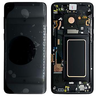 Samsung skærm LCD komplet sæt GH97 21696A sort / midnight black på Galaxy S9 G960F / S9 duos G960FD