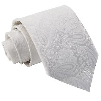 Klassische Krawatte Elfenbein Paisley