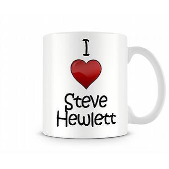 Ik hou van Steve Hewlett bedrukte mok