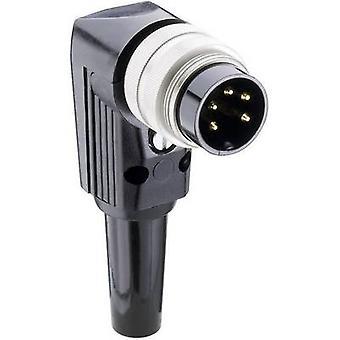 Lumberg WSV 50 DIN connecteur fiche, querre nombre de broches: 5 Silver 1 PC (s)