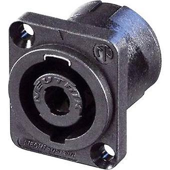 Neutrik NL4MP Audio jack Sleeve socket, straight pins Number of pins: 4 Black, Blue 1 pc(s)
