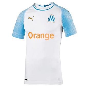 2018-2019 Olympique Marseille Puma Home Authentic EvoKNIT Football Shirt