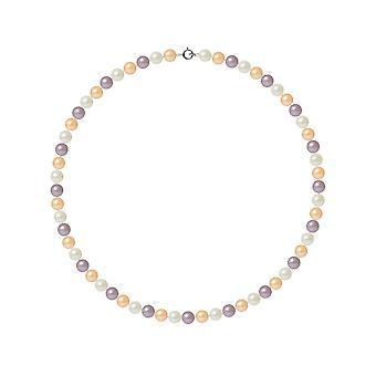 Ras ネックレス首女性養殖の淡水 Multicolores AA とクラスプ ホワイト ・ ゴールド 750/1000 の真珠