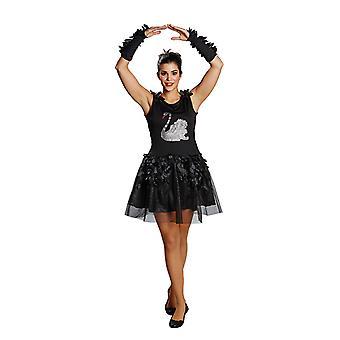 Schwan Tüllkleid Black Swan Schwankleid Kostüm für Damen