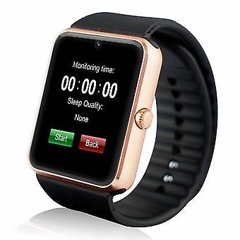 Stoff zertifiziert® Original GT08 Smartwatch Smartphone Fitness Sport Aktivität Tracker Uhr OLED Android iOS iPhone Samsung Huawei Gold