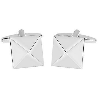 David Van Hagen splendente piramide a base quadrata Design gemelli - argento