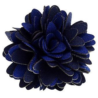 David Van Hagen Stoff Blume Anstecknadel - Navy/blau
