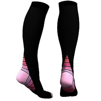 Knee High compression socks for running & Sport-Pink