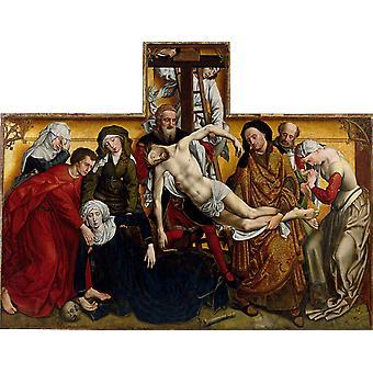 Deposition, Roger Van Der Weyden, 50x40cm