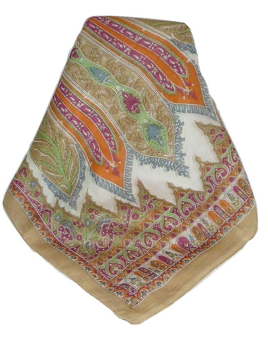 Mulberry Silk Traditional Long Scarf Johal Blush by Pashmina & Silk