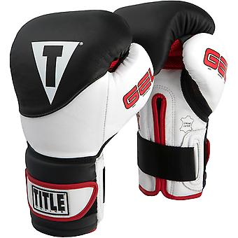 Title Boxing Gel Suspense Training Gloves - Black/White